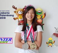 KMC車手黃亭茵 2018亞運漂亮贏得一銀一銅