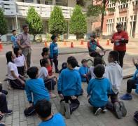 KMC前進國小校園 騎乘教育從小開始