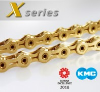 KMC New X series chain received Taiwan Excellence Awards 2018.